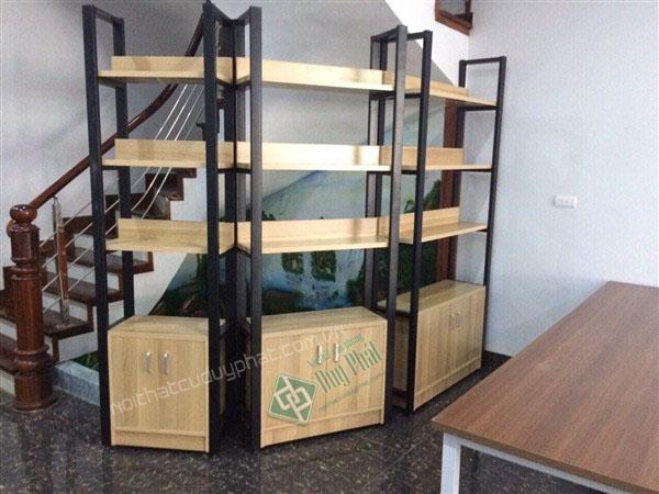 Mẫu kệ văn phòng khung sắt tủ gỗ phù hợp với dịch vụ nội thất văn phòng Bắc Ninh gợi ý dành riêng cho bạn